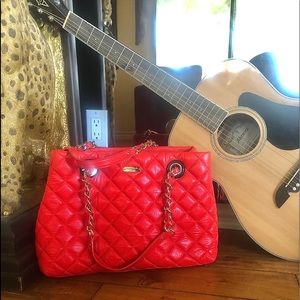 💥🔥💥kate spade quilted red bag with chain straps